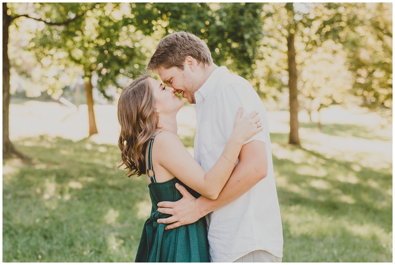 Sweet summertime engagement session St Louis Missouri