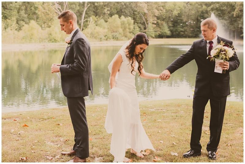 Romantic outdoor fall wedding St Louis Missouri
