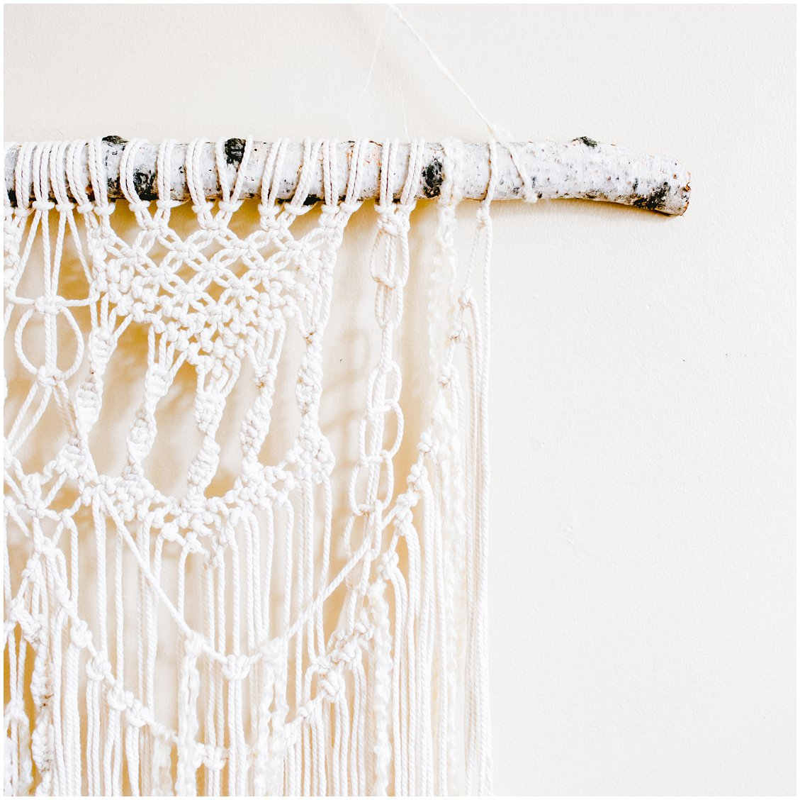 St Louis Bohemian Apartment Decor Wall Macrame by Pattengale Photography