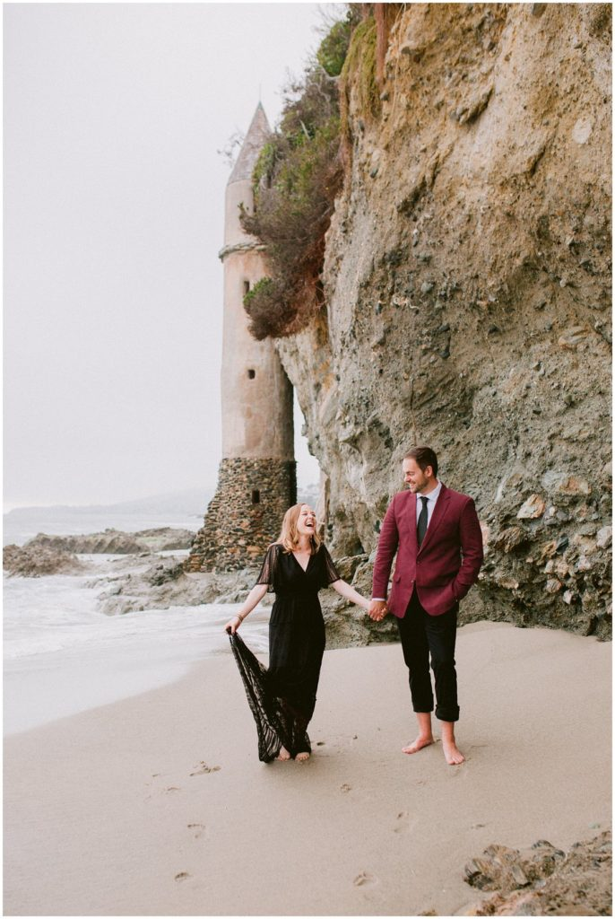 Adventurous Pirates Tower Laguna Beach Engagement Session by Pattengale Photography