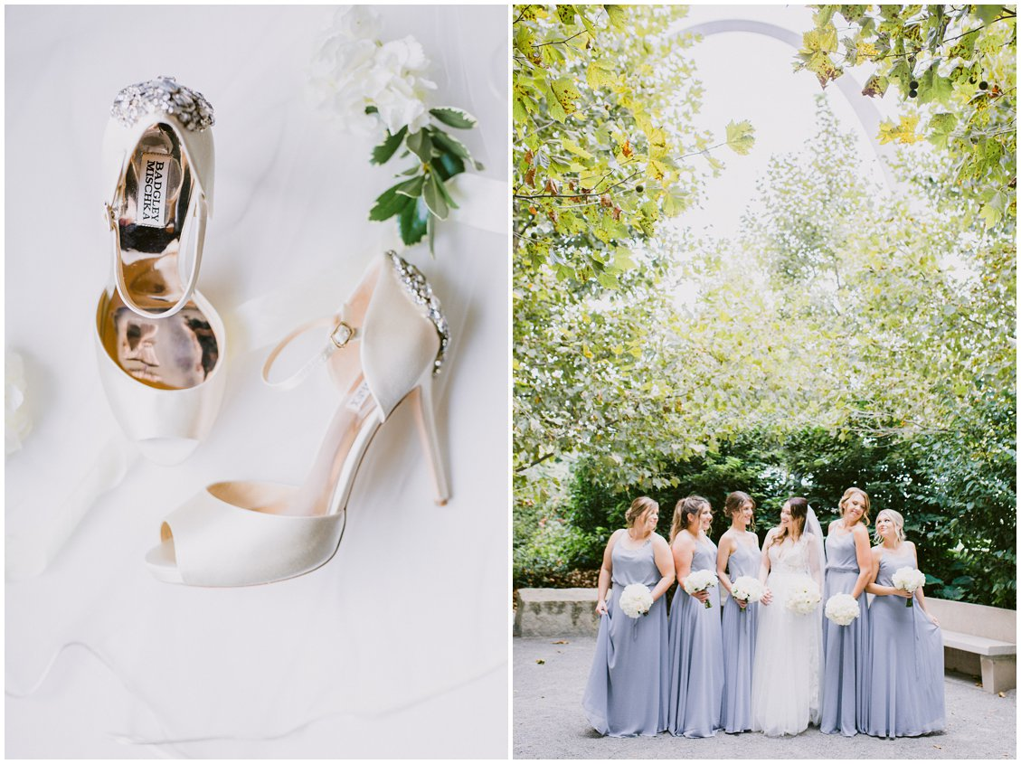 A chic white and gray St Louis wedding at the Hyatt Regency - captured by Pattengale Photography