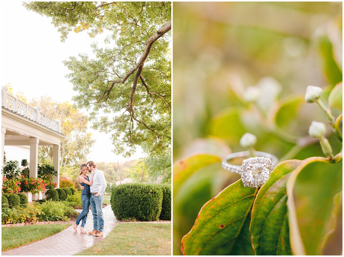 A romantic & rustic engagement session in Wildwood Missouri with a picnic captured by Pattengale Photography