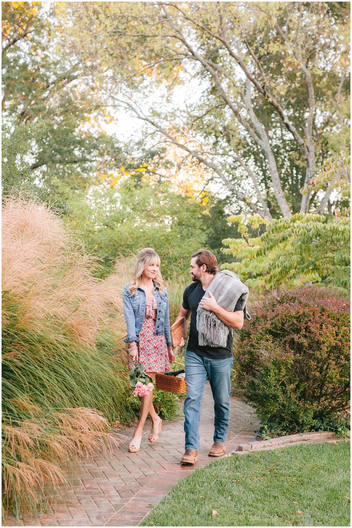 fall picnic engagement session in St Louis Missouri, captured by Pattengale Photography