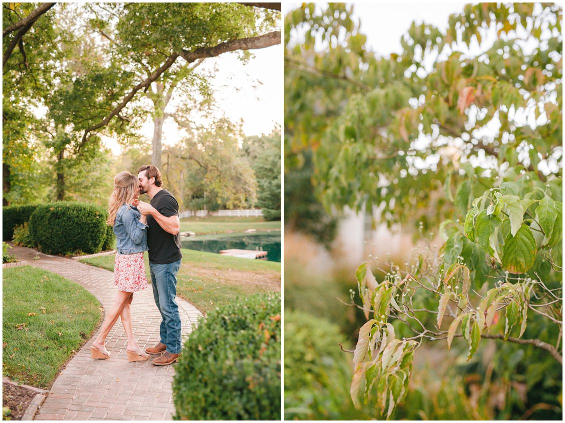 Elegant rustic St Louis engagement session with Tara & Peter captured by Pattengale Photography