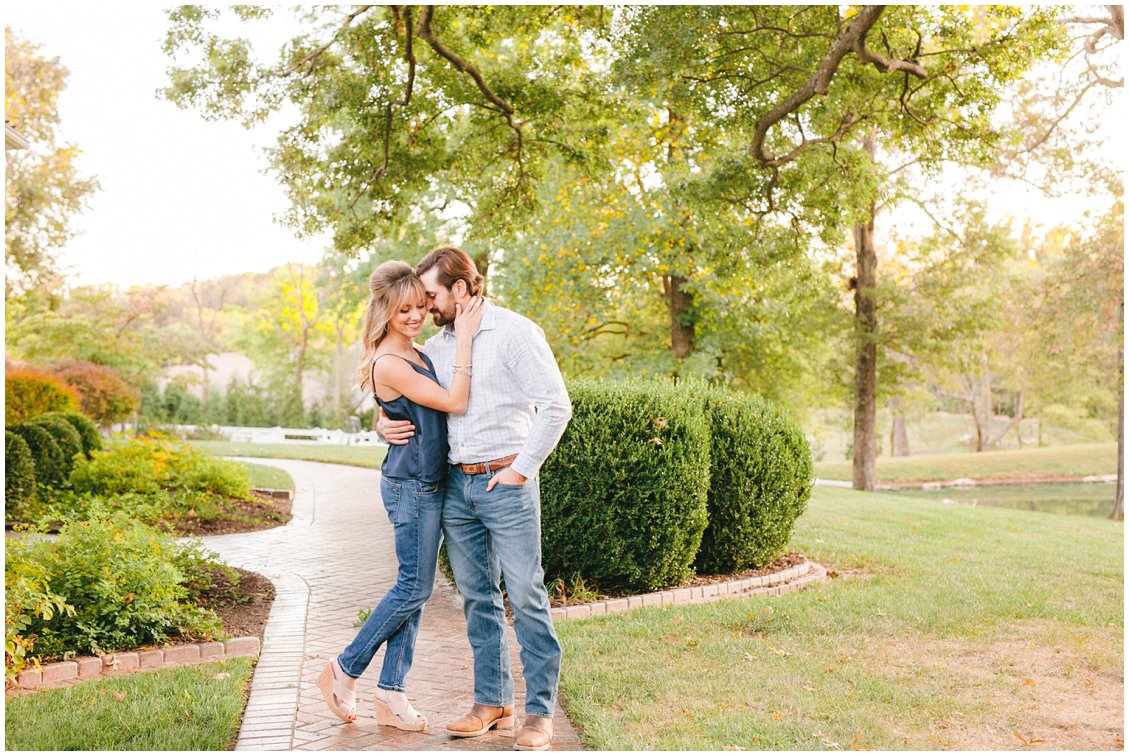 Elegant rustic St Louis engagement session captured by Pattengale Photography
