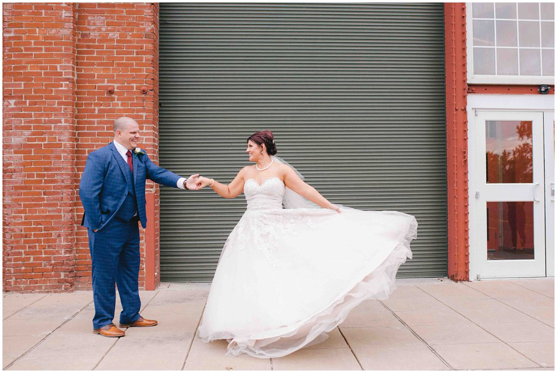 A romantic, industrial fall wedding in historic St Charles Missouri - captured by Pattengale Photography