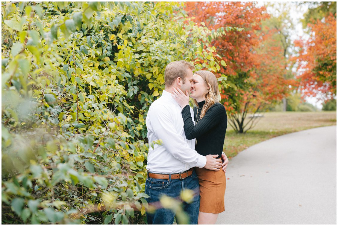 Mizzou college sweethearts engagement session in Tower Grove Park, St Louis, by Pattengale Photography