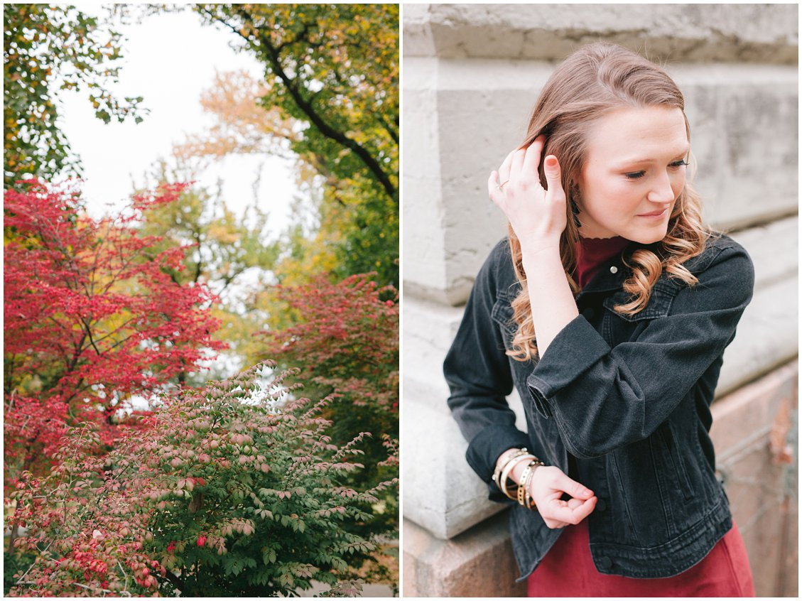 A cozy, natural fall engagement session in Saint Louis, Missouri, captured by Pattengale Photography
