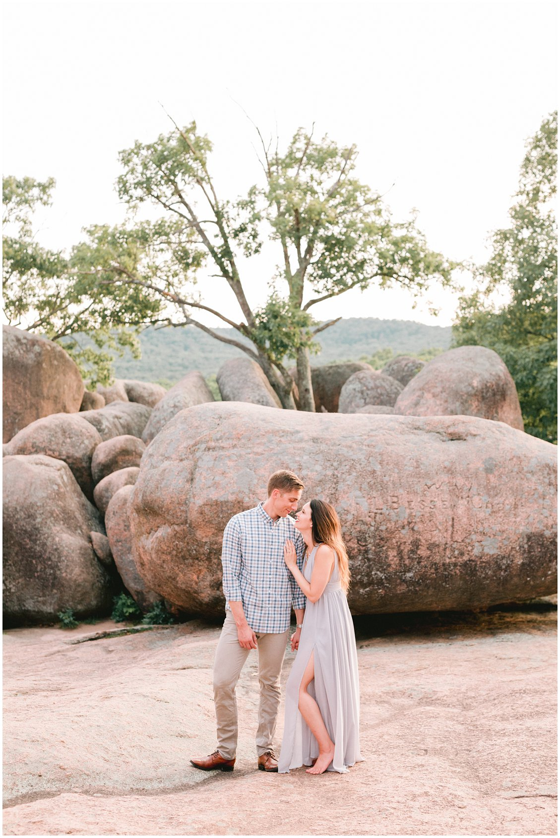 An Adventurous destination couples engagement session at Elephant Rock State Park in St Louis Missouri by Pattengale Photography