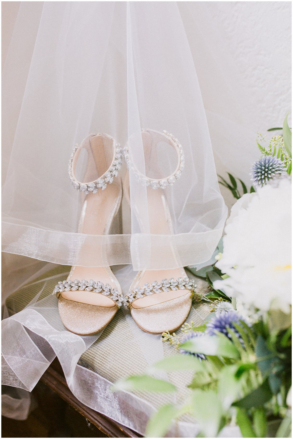Bridal shoes at an elegant summertime wedding at The Boocat Club and Graham Chapel on WashU Campus in St Louis Missouri by Pattengale Photography