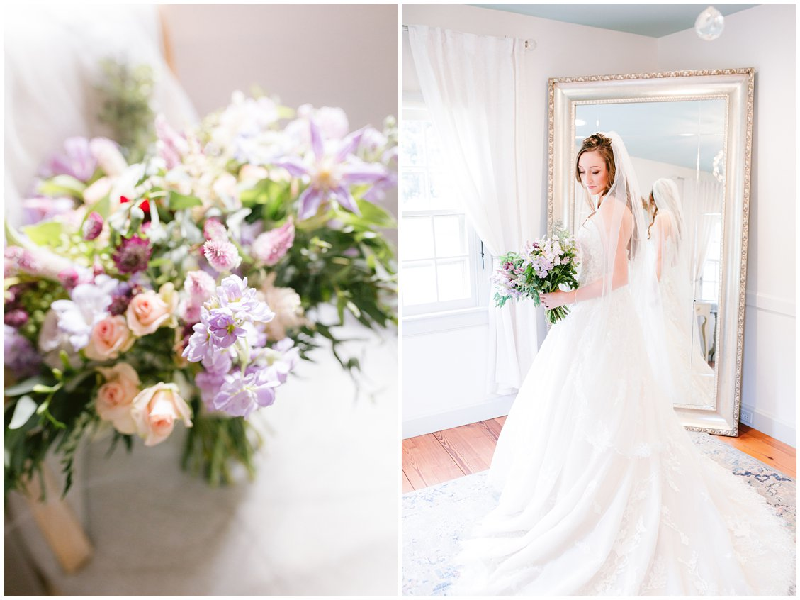 Intimate wedding with soft florals in Richmond Virginia by Pattengale