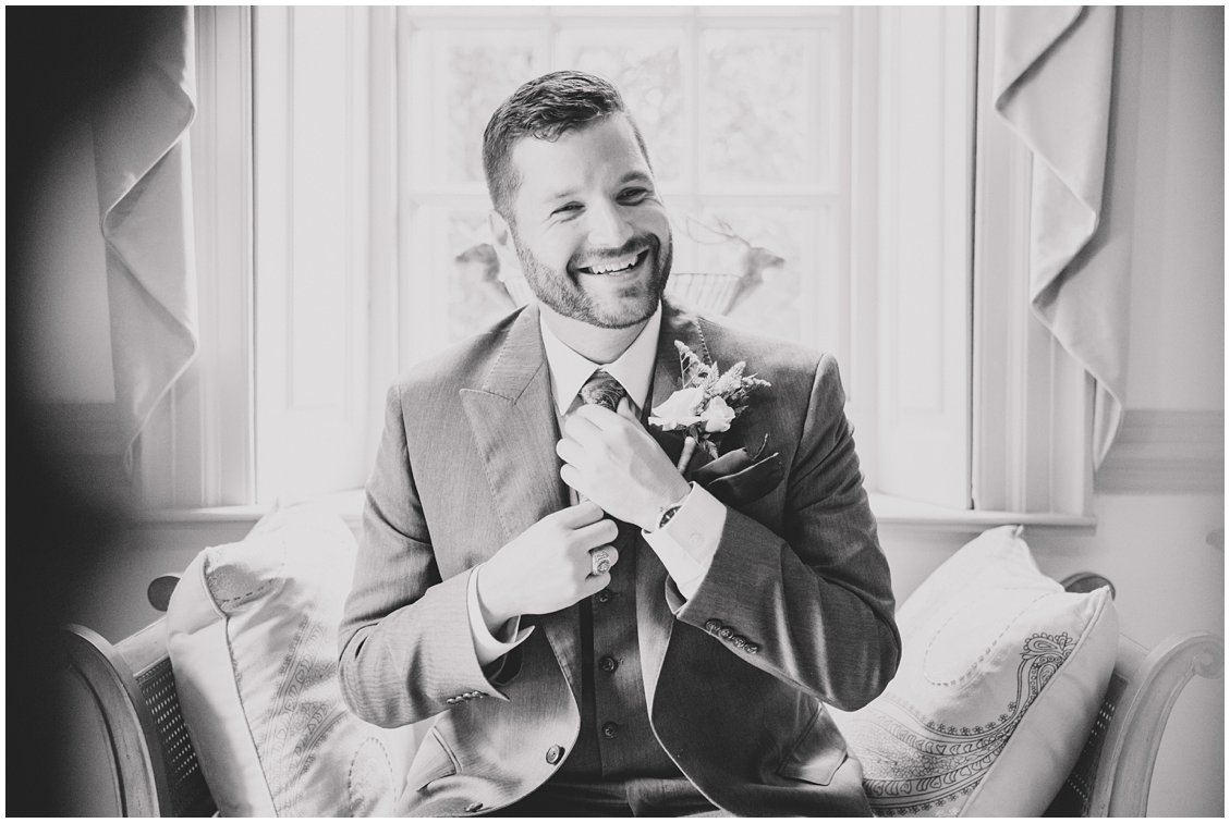 Custom Groom attire for an intimate outdoor wedding in Richmond Virginia captured by Pattengale
