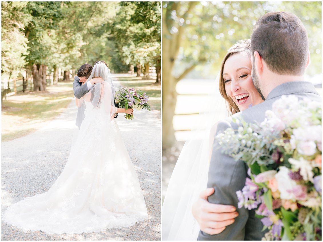 Romantic outdoor wedding at Seven Springs Farm & Manor Richmond VA captured by Tara & Stephen of Pattengale Photography