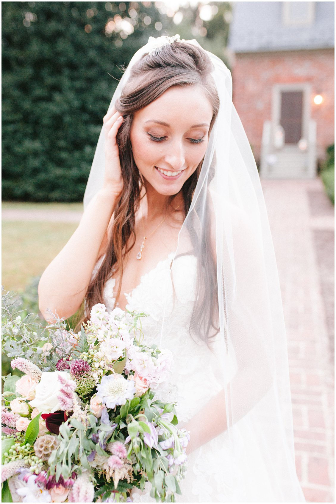 Intimate outdoor wedding at Seven Springs Farm & Manor Richmond VA captured by Tara & Stephen of Pattengale Photography