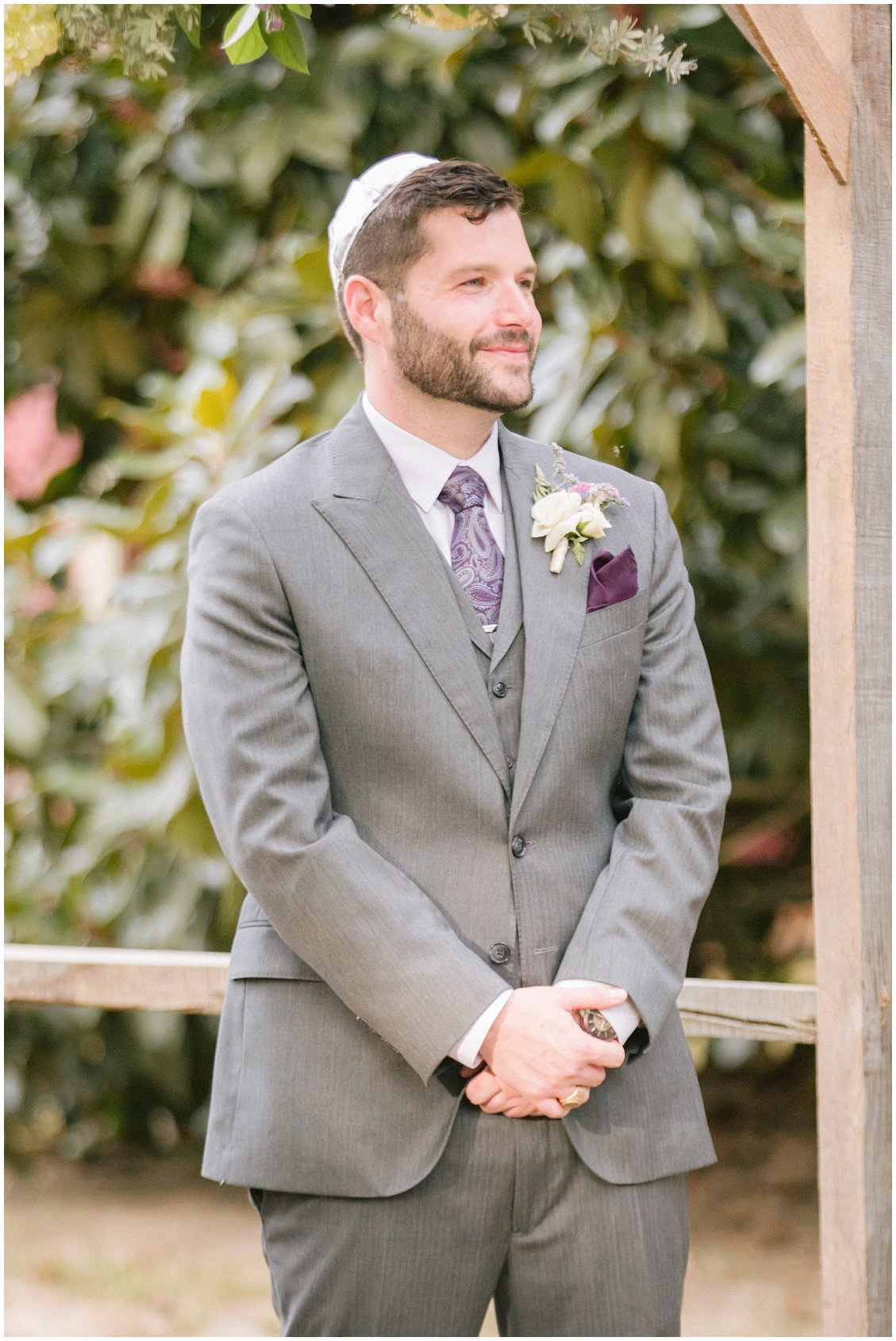 Elegant & intimate outdoor wedding at Seven Springs Farm & Manor Richmond VA captured by Tara & Stephen of Pattengale Photography