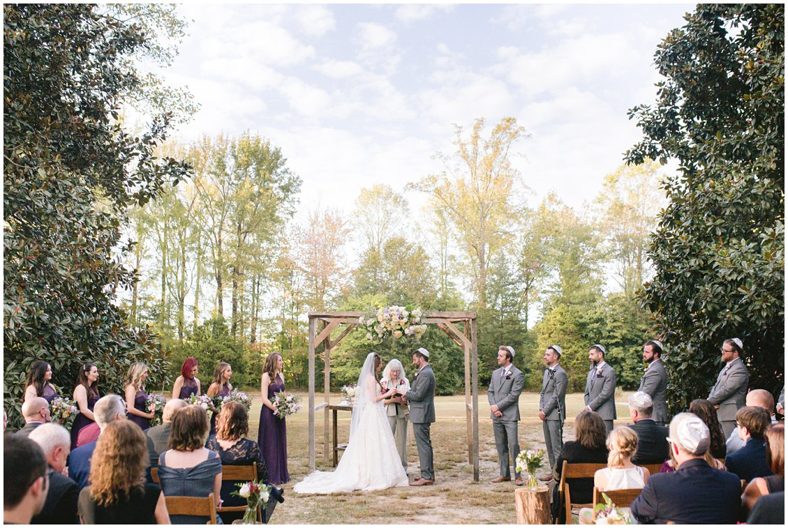 Jewish intimate outdoor wedding at Seven Springs Farm & Manor Richmond Virginia captured by Pattengale Photography