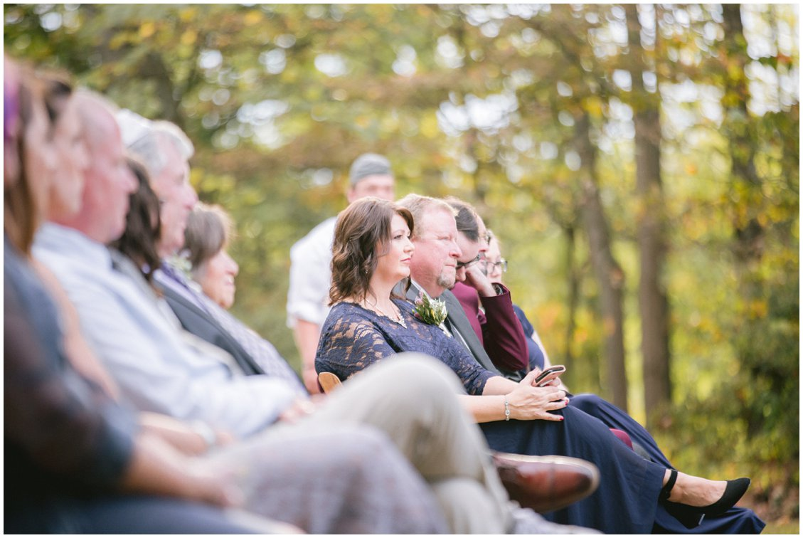 Wedding guests at outdoor ceremony Seven Springs Farm & Manor by Tara & Stephen of Pattengale Photography