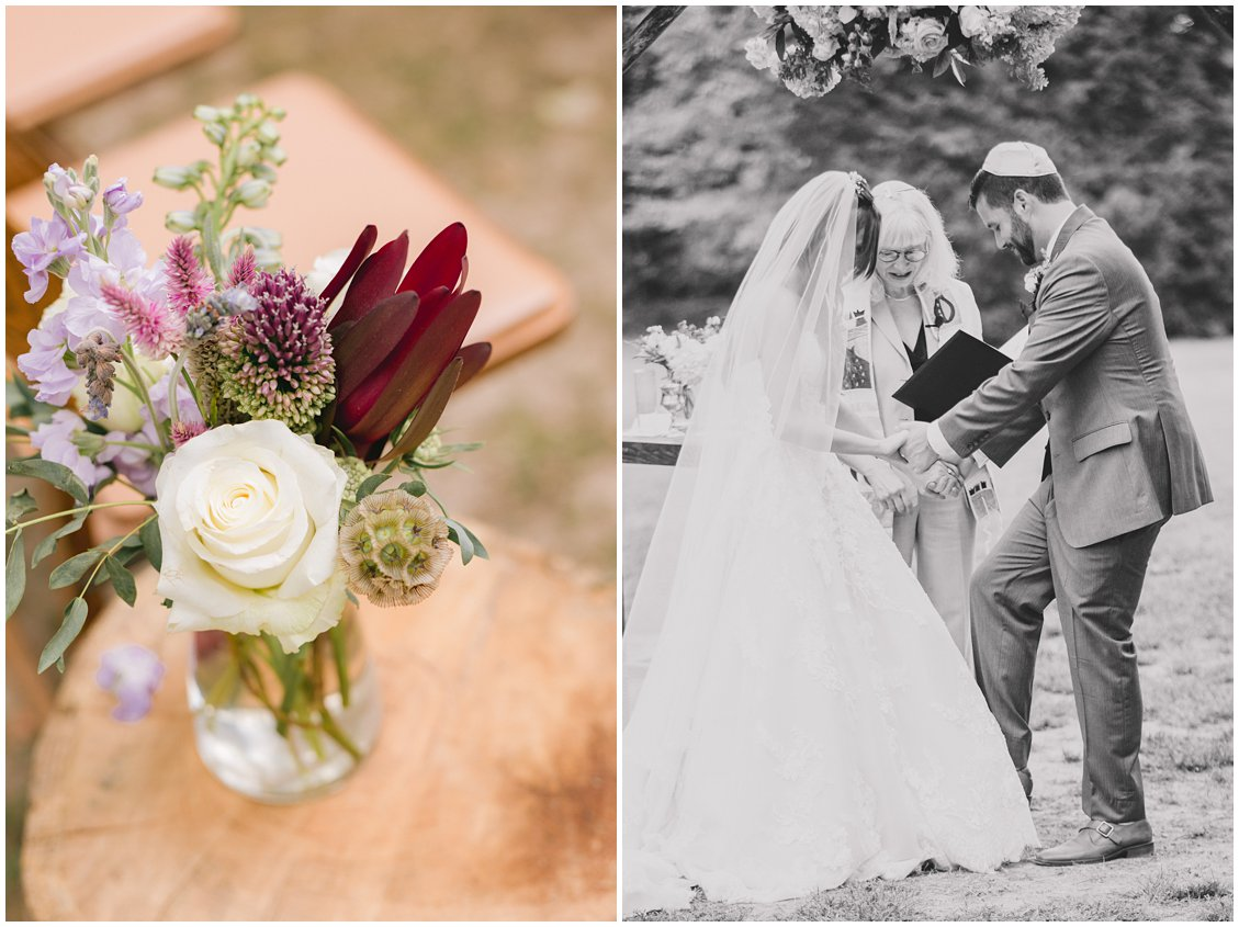 Outdoor wedding aisle decorations at Seven Springs Farm & Manor by Tara & Stephen of Pattengale Photography