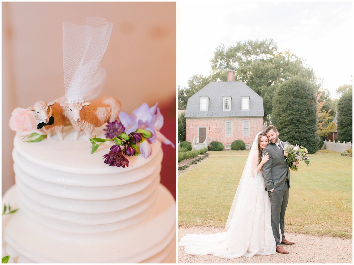 Simple rustic wedding cake at Seven Springs Farm & Manor by Tara & Stephen of Pattengale Photography