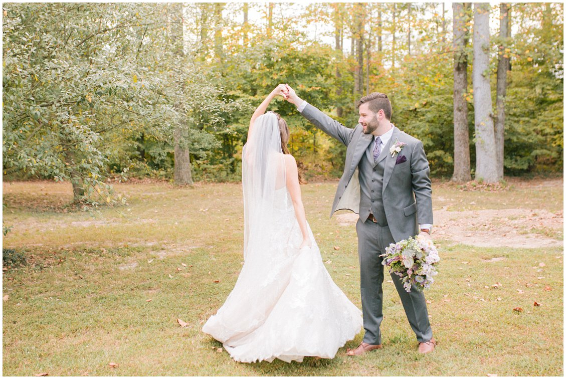 Romantic small outdoor wedding at Seven Springs Farm & Manor by Tara & Stephen of Pattengale Photography