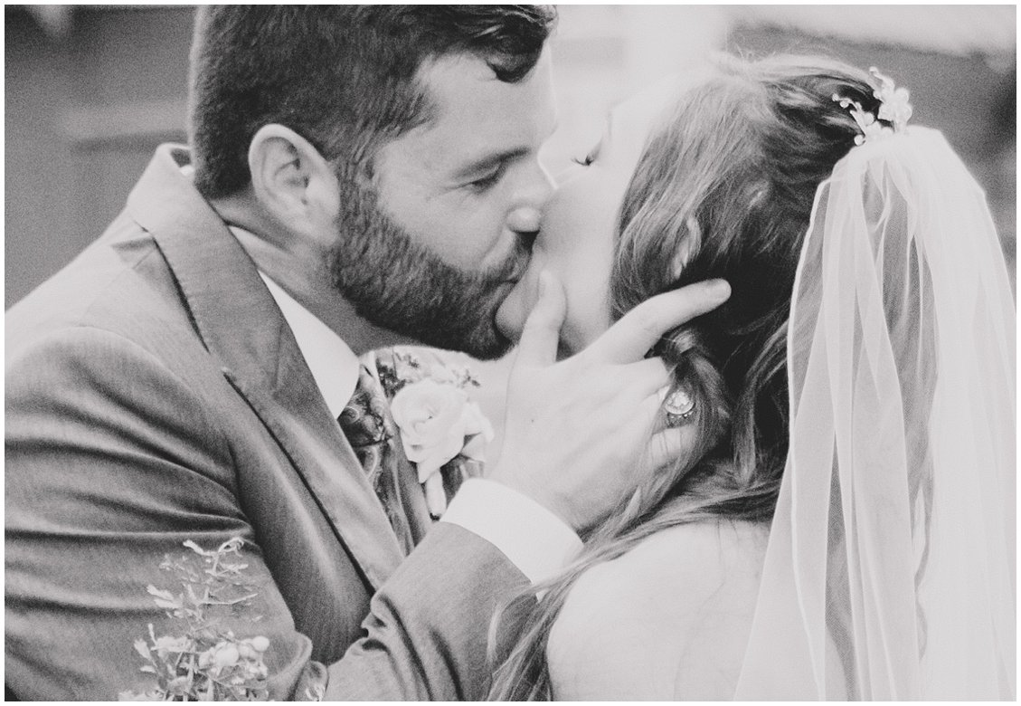 Untraditional small outdoor wedding at Seven Springs Farm & Manor by Tara & Stephen of Pattengale Photography