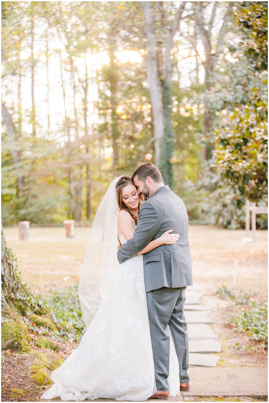 Romantic fall outdoor wedding at Seven Springs Farm & Manor captured by Tara & Stephen of Pattengale Photography