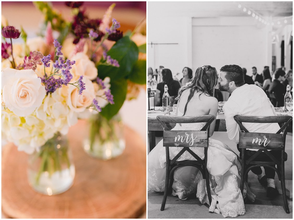 Rustic outdoor intimate wedding reception at Seven Springs Farm & Manor by Tara & Stephen of Pattengale Photography