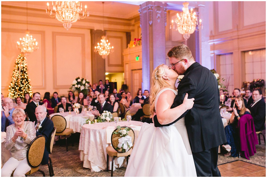 An elegant intimate winter wedding by Tara & Stephen of Pattengale Photography in downtown Richmond Virginia